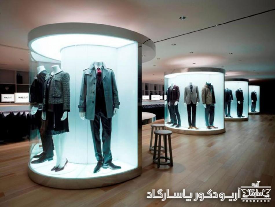 طراحی داخلی فروشگاه پوشاک