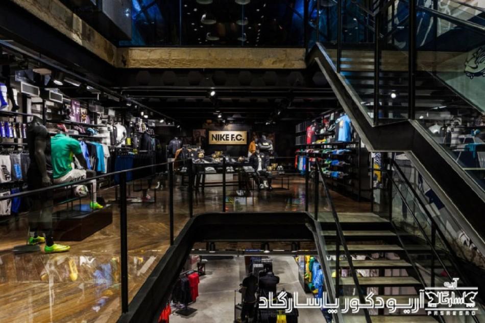 طراحی داخلی فروشگاه نایک
