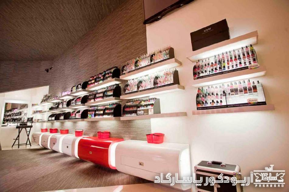 طراحی داخلی فروشگاه آرایشی